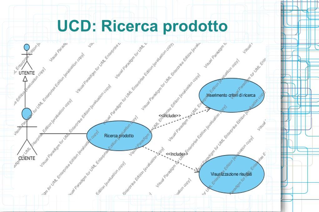 UCD: Ricerca prodotto