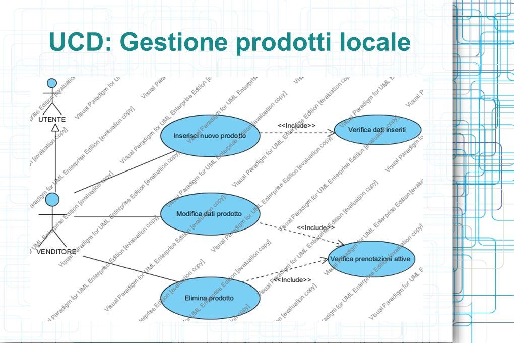 UCD: Gestione prodotti locale