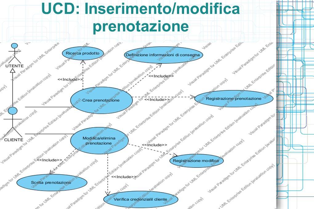 UCD: Inserimento/modifica prenotazione