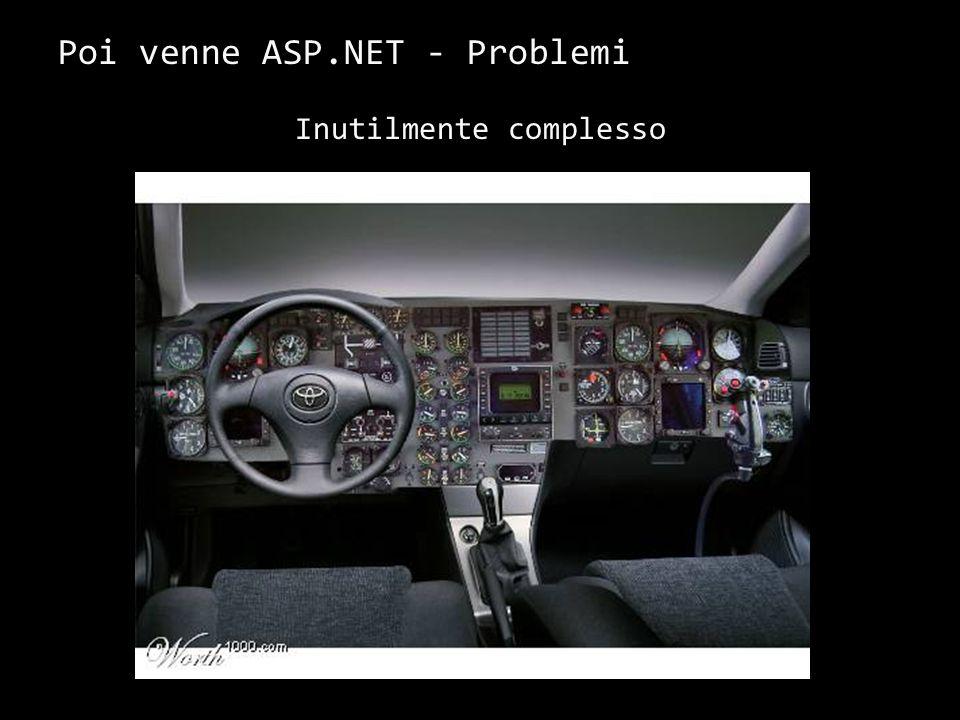 Poi venne ASP.NET - Problemi Inutilmente complesso