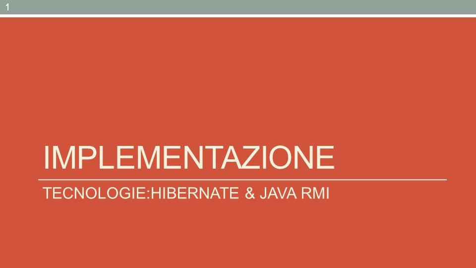 Hibernate: Object-Relational Mapping piattaforma middleware open source che fornisce un servizio di Object-Relational mapping (ORM) per lo sviluppo di applicazioni Java Consiste di una tecnica per la mappatura della struttura di oggetti Java su di un database relazionale Fornisce uninterfaccia Object-Oriented per la persistenza degli oggetti, nascondendo la logica relazionale sottostante TECNOLOGIE – HIBERNATE & JAVA RMI 2