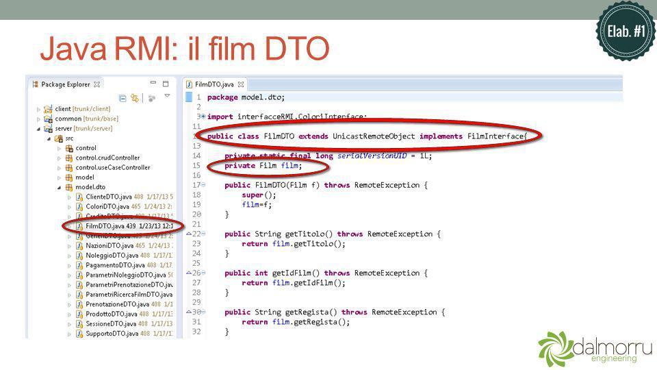 Java RMI: il film DTO