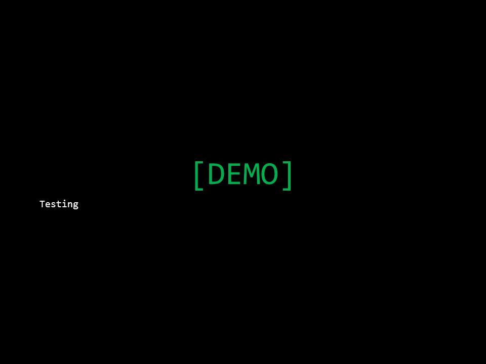 [DEMO] Testing