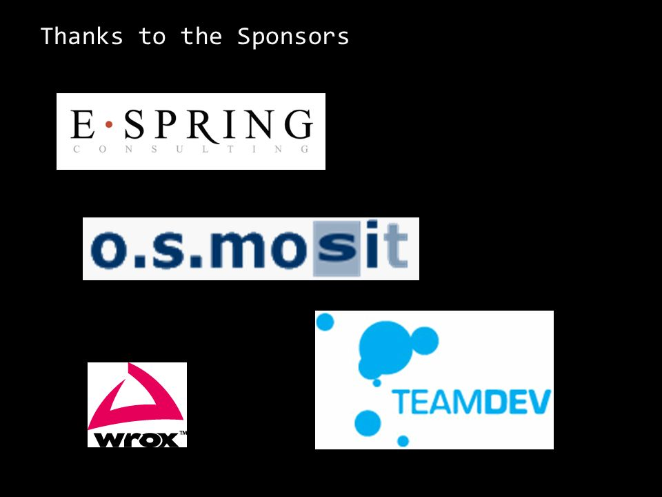 Thanks to the Sponsors