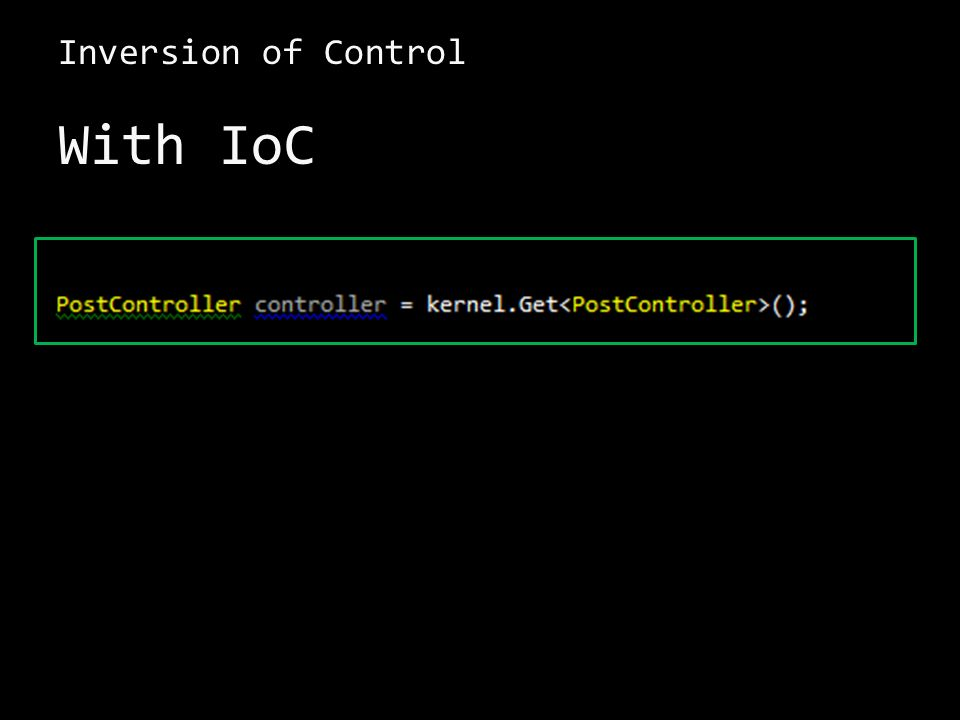 Inversion of Control With IoC