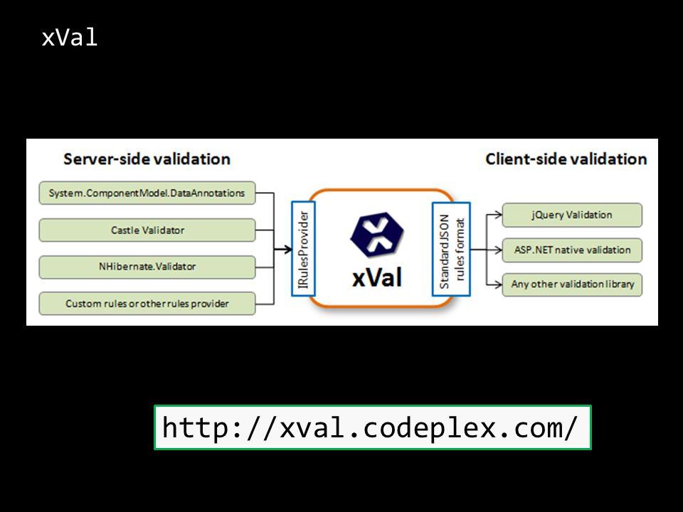xVal http://xval.codeplex.com/