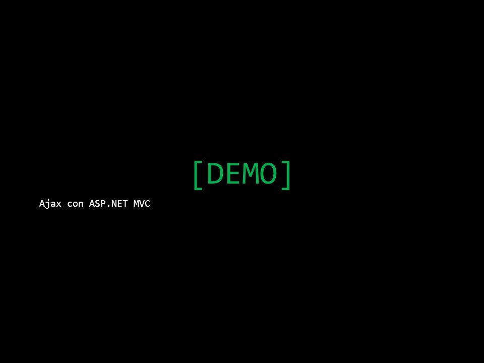 [DEMO] Ajax con ASP.NET MVC
