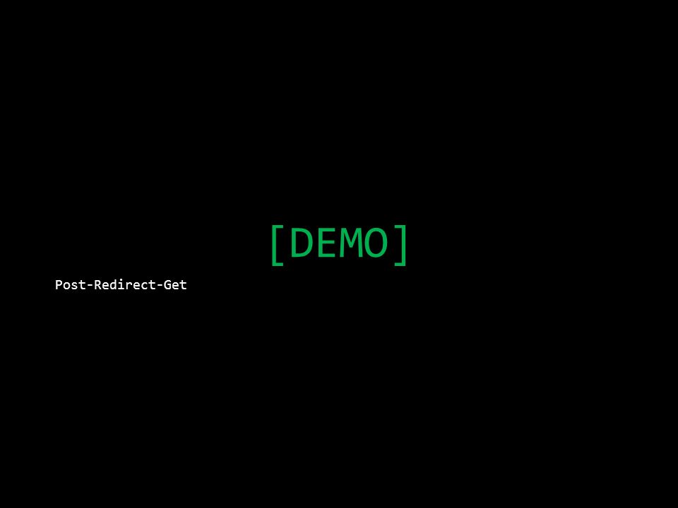 [DEMO] Post-Redirect-Get