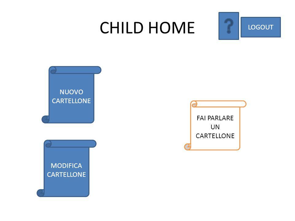 CHILD HOME LOGOUT FAI PARLARE UN CARTELLONE NUOVO CARTELLONE MODIFICA CARTELLONE