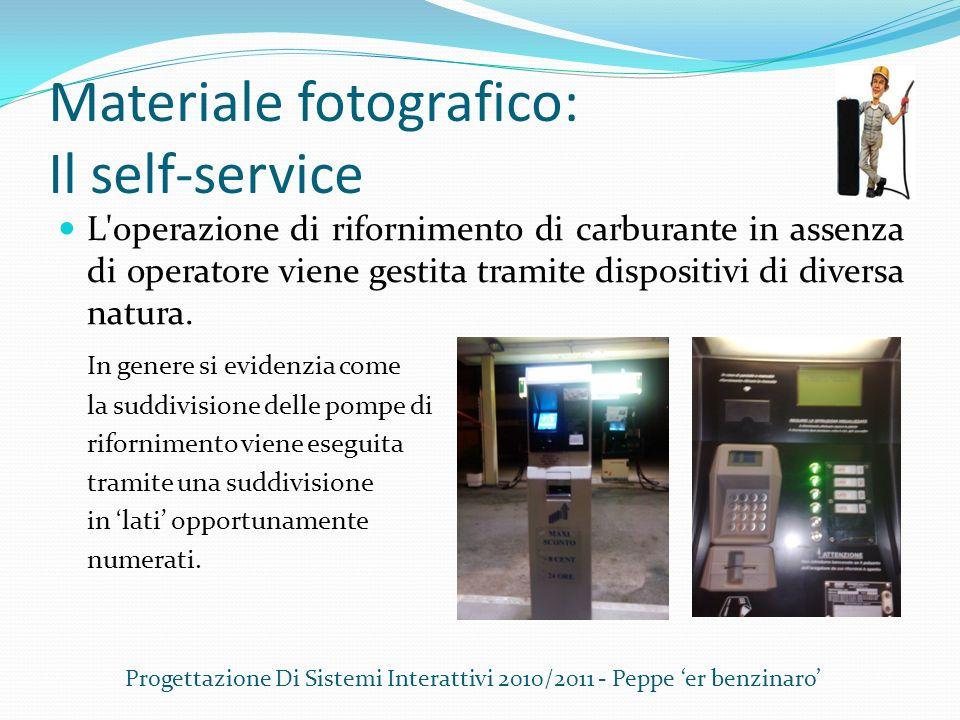 Materiale fotografico: Il self-service L'operazione di rifornimento di carburante in assenza di operatore viene gestita tramite dispositivi di diversa