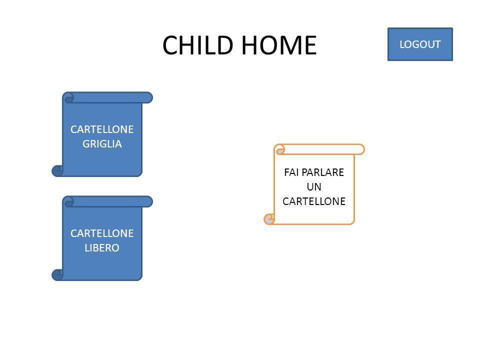 CHILD HOME CARTELLONE GRIGLIA CARTELLONE LIBERO LOGOUT FAI PARLARE UN CARTELLONE
