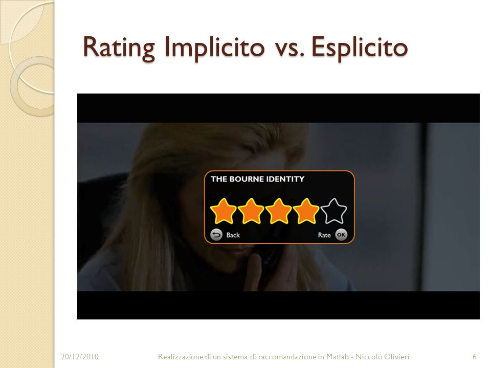 Rating Implicito vs.