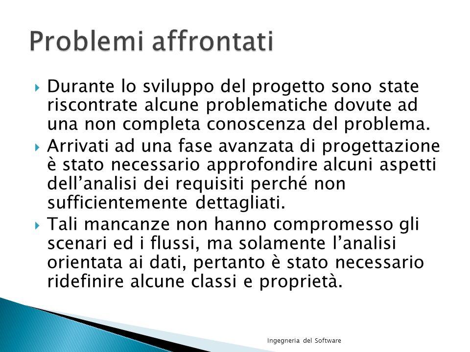 Durante lo sviluppo del progetto sono state riscontrate alcune problematiche dovute ad una non completa conoscenza del problema.