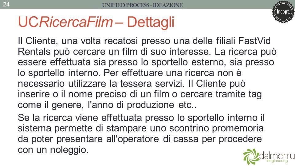 UCRicercaFilm – Dettagli Il Cliente, una volta recatosi presso una delle filiali FastVid Rentals può cercare un film di suo interesse. La ricerca può