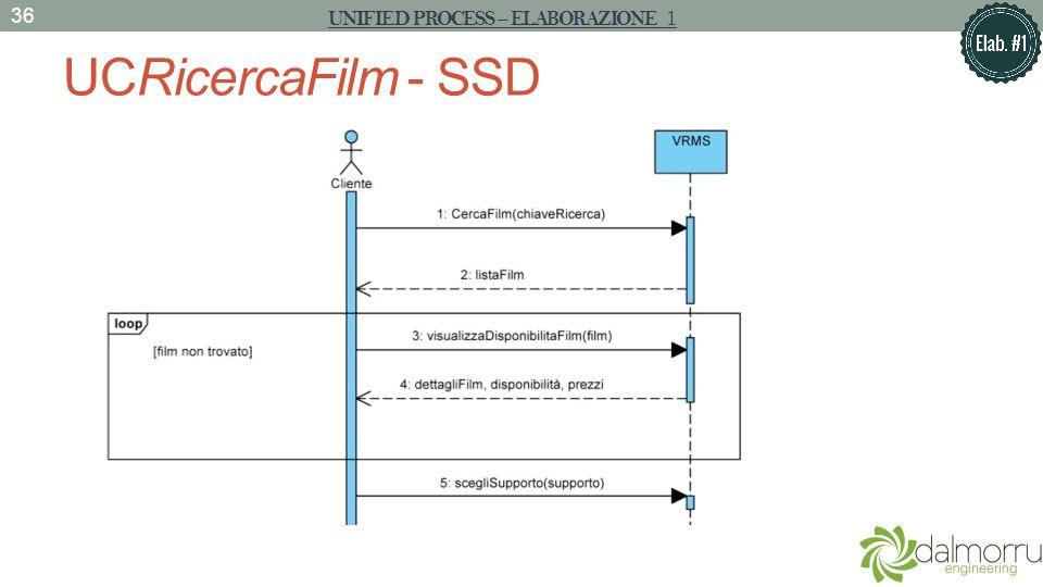 UCRicercaFilm - SSD 36 UNIFIED PROCESS – ELABORAZIONE 1