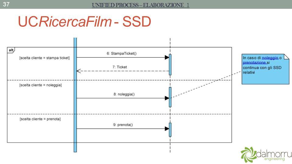 UCRicercaFilm - SSD 37 UNIFIED PROCESS – ELABORAZIONE 1