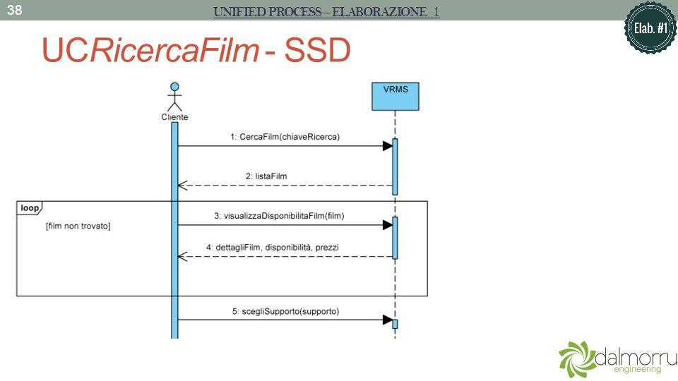 UCRicercaFilm - SSD 38 UNIFIED PROCESS – ELABORAZIONE 1