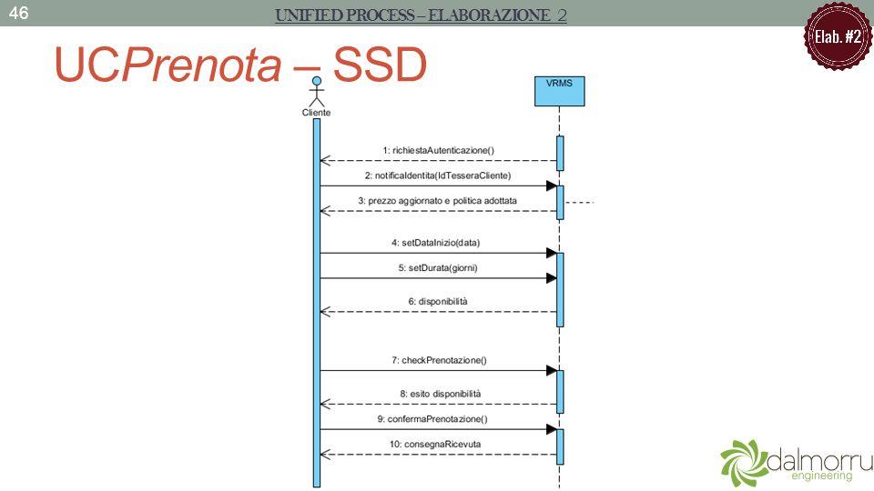 UCPrenota – SSD 46 UNIFIED PROCESS – ELABORAZIONE 2