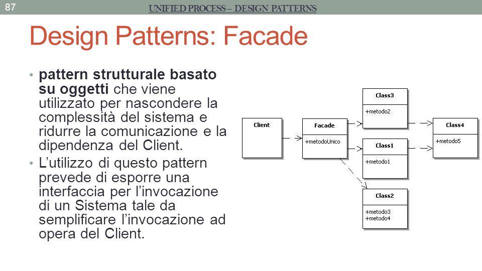 Design Patterns: Facade pattern strutturale basato su oggetti che viene utilizzato per nascondere la complessità del sistema e ridurre la comunicazion