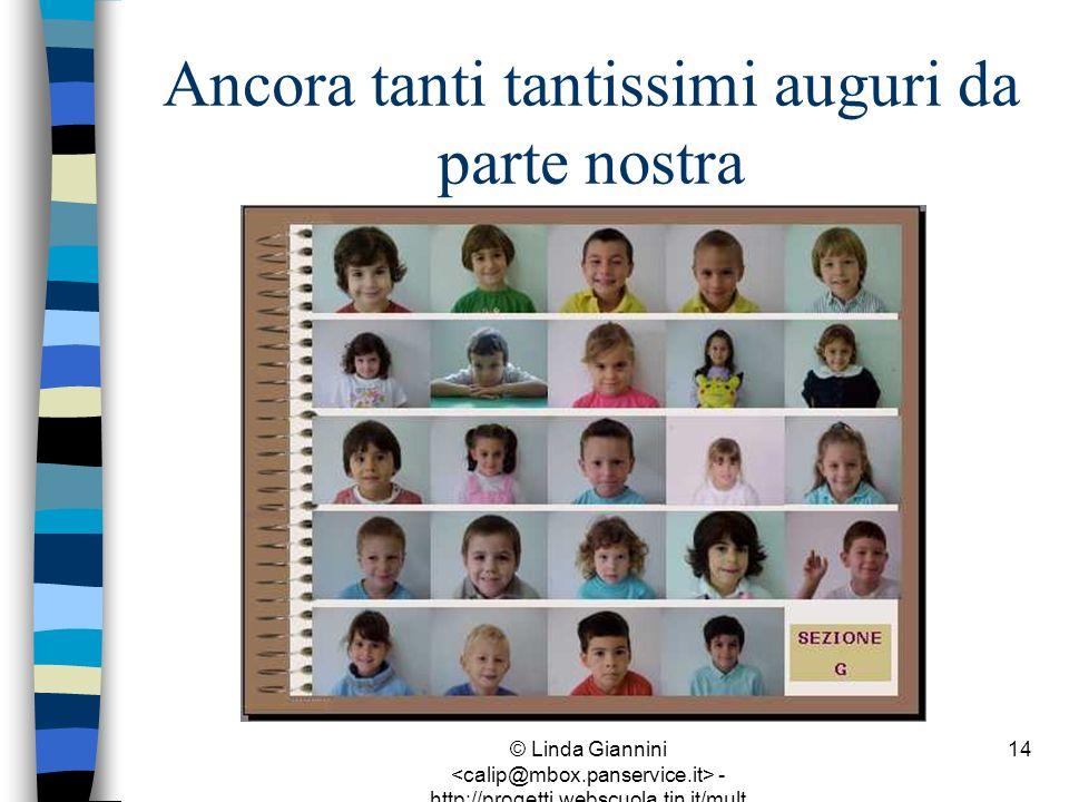 © Linda Giannini - http://progetti.webscuola.tin.it/mult ilab/lati07/ 14 Ancora tanti tantissimi auguri da parte nostra