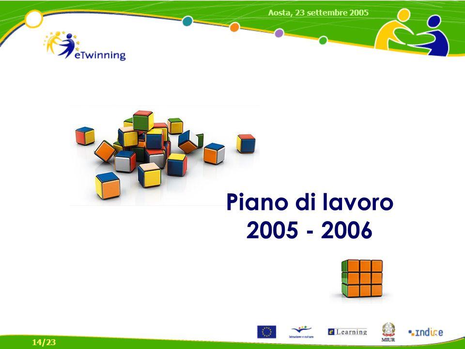 Piano di lavoro 2005 - 2006 Aosta, 23 settembre 2005 14/23
