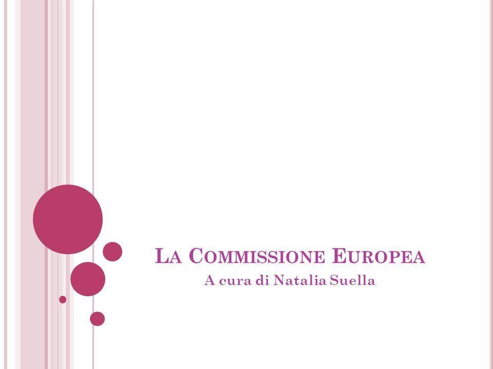 L A C OMMISSIONE E UROPEA A cura di Natalia Suella