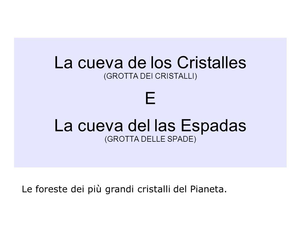 La cueva de los Cristalles (GROTTA DEI CRISTALLI) E La cueva del las Espadas (GROTTA DELLE SPADE) Le foreste dei più grandi cristalli del Pianeta.