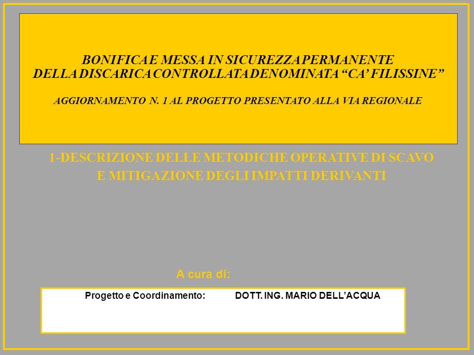 BONIFICA E MESSA IN SICUREZZA PERMANENTE DELLA DISCARICA CONTROLLATA DENOMINATA CA FILISSINE ATTUALE SITUAZIONE SITUAZIONE DI PROGETTO 22-CIO CHE NON SI PUO NON CONSIDERARE