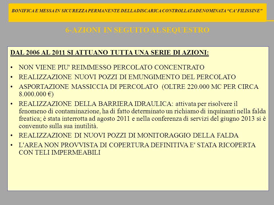 BONIFICA E MESSA IN SICUREZZA PERMANENTE DELLA DISCARICA CONTROLLATA DENOMINATA CA FILISSINE DI SEGUITO LE LINEE PROGETTUALI DI AGGIORNAMENTO AL PROGETTO SECONDO LE INDICAZIONI DEI PROFESSIONISTI INCARICATI DAL COMUNE 27-LINEE DI INTERVENTO DEI PROFESSORI SIRINI E NAPOLEONI