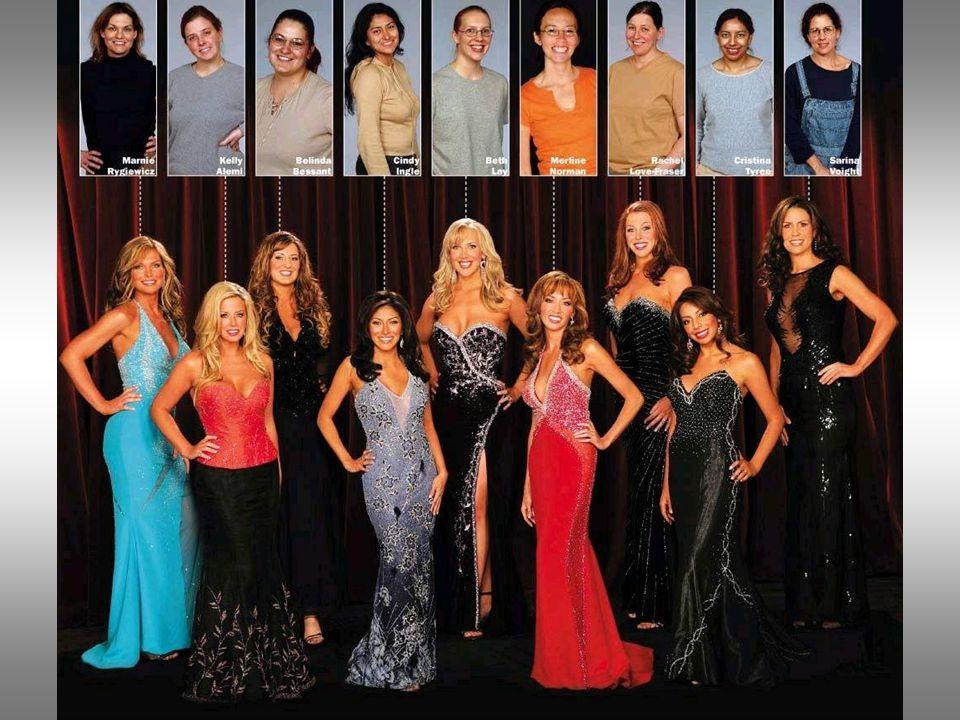 Dopo lextreme makeover, le 9 concorrenti hanno posato per la foto finale...: LA VINCITRICE E LA PRIMA DA SINISTRA