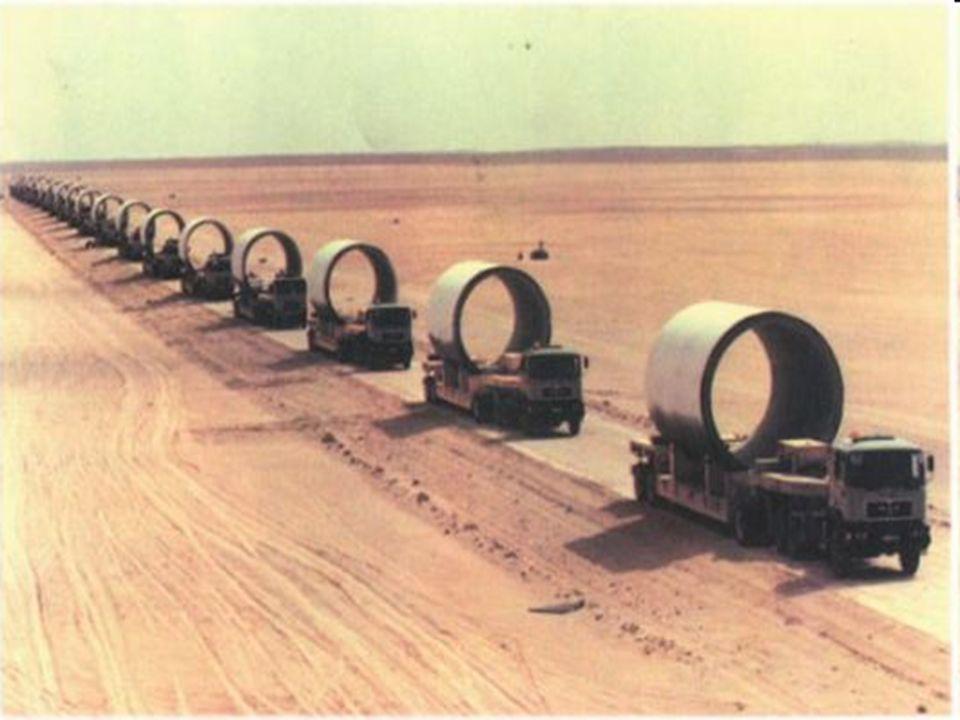 La prima fase di tale opera si concluse nel 1991 con il tratto che giunge fino a Bengasi La seconda nel 1996 con il tratto che raggiunge Tripoli La te
