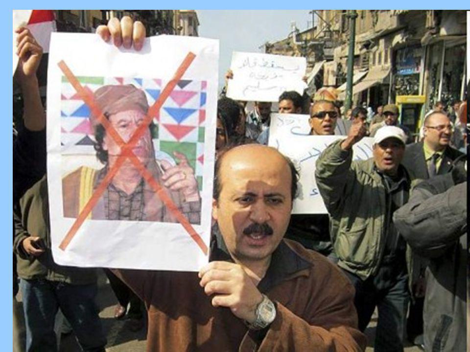 Febbraio 2011: sull'onda di quanto accadeva nei vicini paesi arabi, la popolazione è scesa in piazza per chiedere la fine della dittatura di Gheddafi