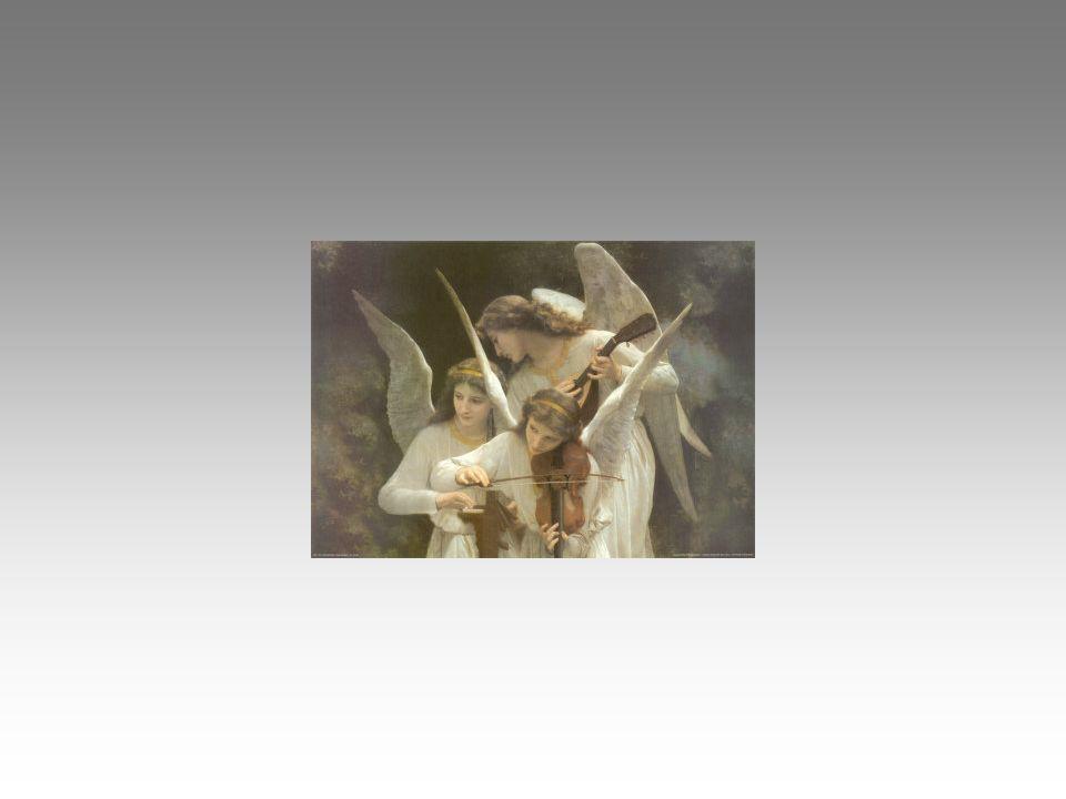 La voce dell'angelo che canta il canto di Dio: pace in terra agli uomini. Che grande musica questo canto! Il mio presepe ancora da finire mi dà la dim