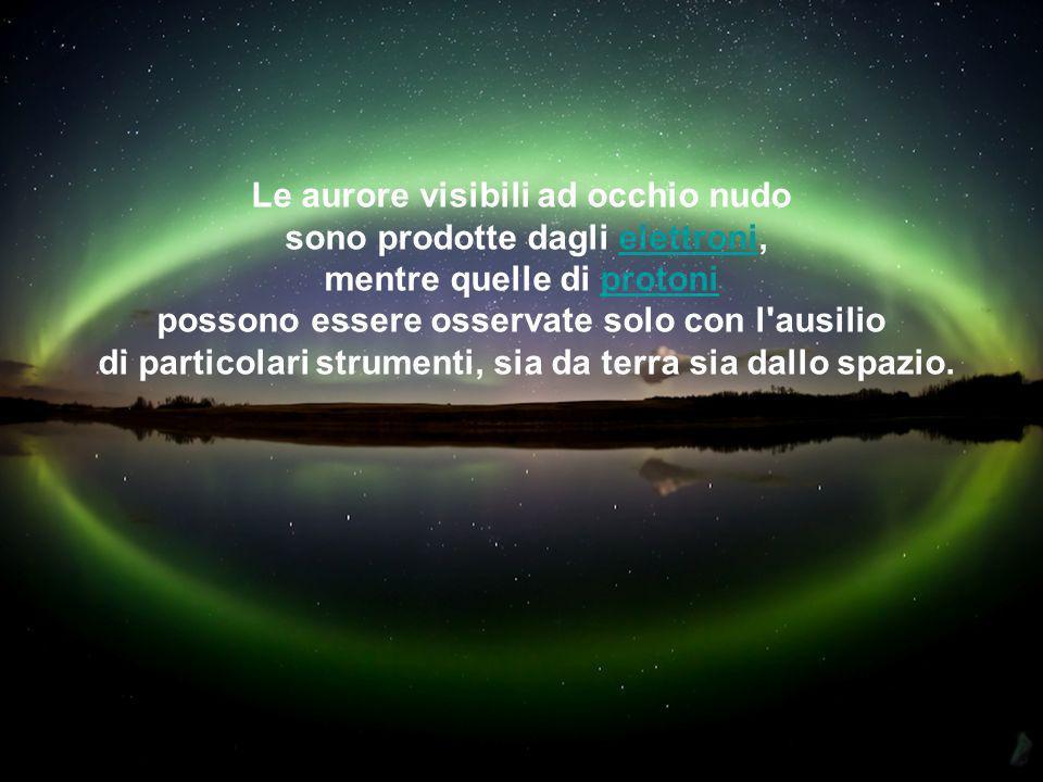 L'ossigeno atomicoossigeno è responsabile del colore verde e l'ossigeno molecolare per il rosso. L'azoto causa il colore blu.azoto