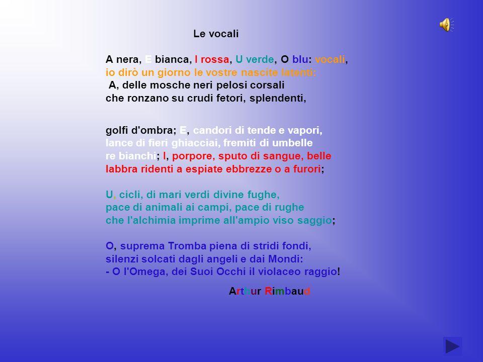 Una poesia di associazioni multiple ed inconsce A.