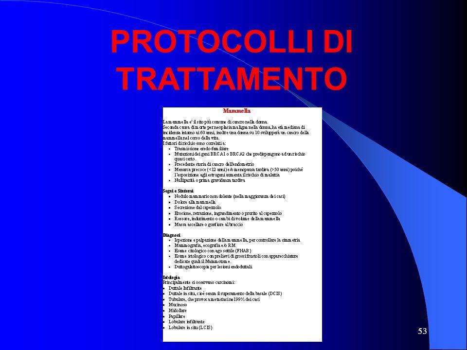 53 PROTOCOLLI DI TRATTAMENTO