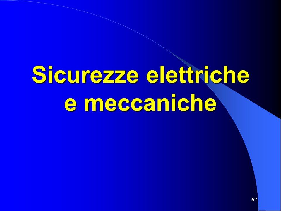67 Sicurezze elettriche e meccaniche