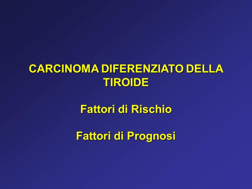 CARCINOMA DIFERENZIATO DELLA TIROIDE Fattori di Rischio Fattori di Prognosi