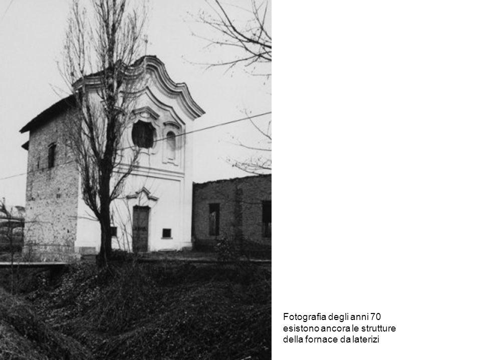 Fotografia degli anni 70 esistono ancora le strutture della fornace da laterizi