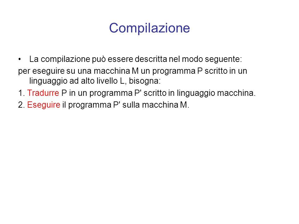 Modalità di traduzione Esistono due diverse tecniche per farlo: la compilazione l' interpretazione Osservazione: i linguaggi ad alto livello sono port