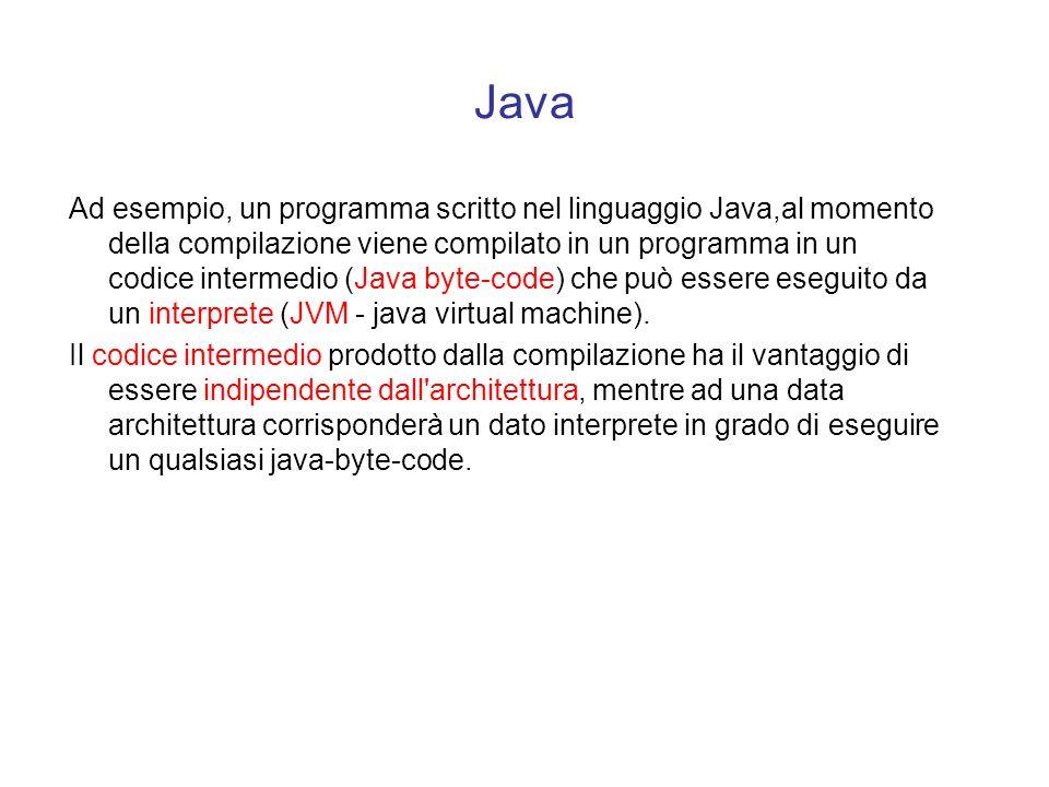 Interpreti contro compilatori Esistono linguaggi che mettono a disposizione entrambe la modalità di esecuzione (Lisp, Prolog e Basic). Esistono lingua