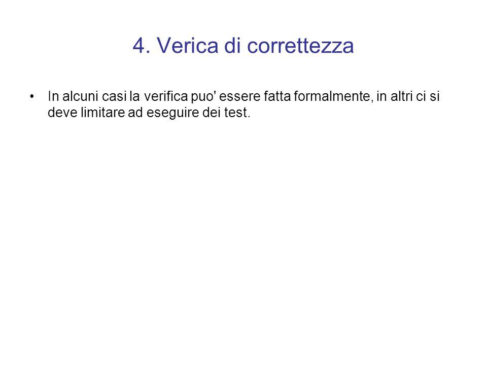 3. Codica dell'algoritmo Si passa dallo schema a blocchi al vero e proprio codice scritto nel linguaggio scelto.