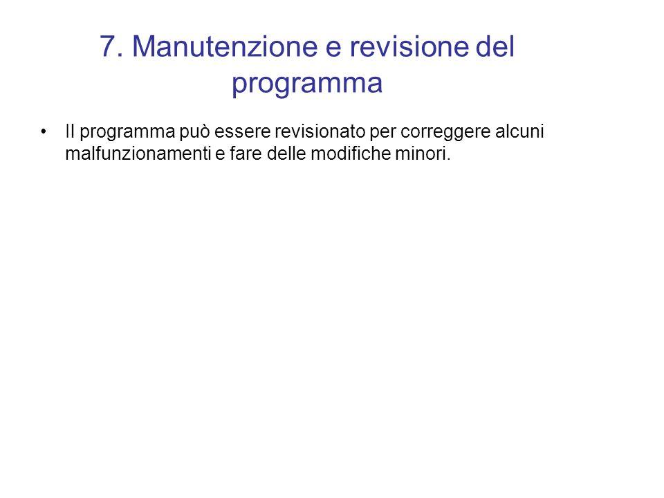 6. Documentazione Stesura della documentazione e manuali per l'uso del programma.