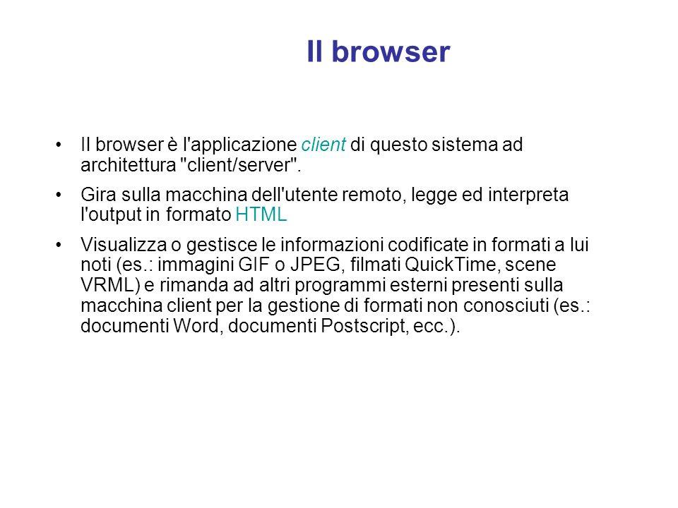 Il server HTTP: struttura Le directory virtuali sono contraddistinte da un alias, ovvero un nome che i browser dei client utilizzano per accedervi. Pe