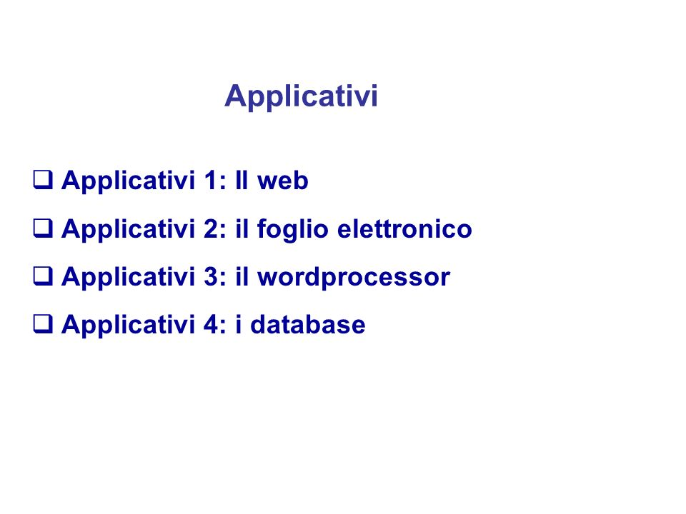 Programma del Corso Architettura dei Calcolatori Sistemi Operativi Linguaggi di Programmazione Rappresentazione dei Dati ed Algoritimi Gestione Distri