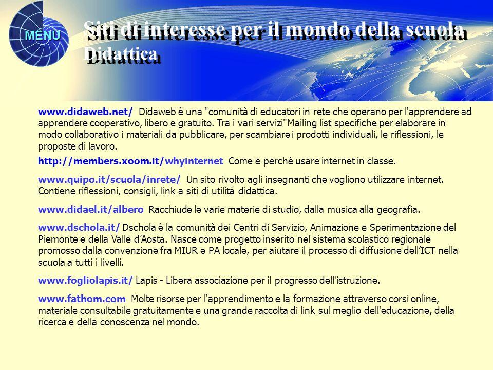 MENU www.didaweb.net/ Didaweb è una
