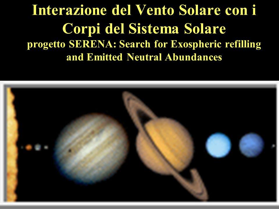 Le interazioni avvengono attraverso Campo Magnetico Atmosfera Superficie Esosfera Il Sistema Solare è immerso nellatmosfera solare, che si espande formando il vento solare.