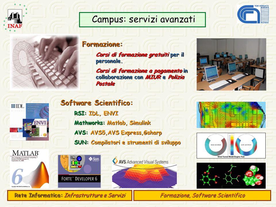 Campus: servizi avanzati Campus: servizi avanzati E 500 Formazione: Corsi di formazione gratuiti per il personale. Corsi di formazione a pagamento in
