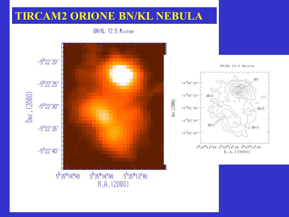 IRAIT/TIRCAM2 AT DOMEC TELESCOPE: D=80 cm; f/20 ; Scale=12.9/mm;FOV=10arcmin TIRCAM2 : 128x128 High-Flux Si:As BIB HF-21; PFOV=2/pix; FOV=4.3X4.3 ; flim(20 )=52mJy(3, tin=5min) Pixel pitch 75 m Spec.Res.