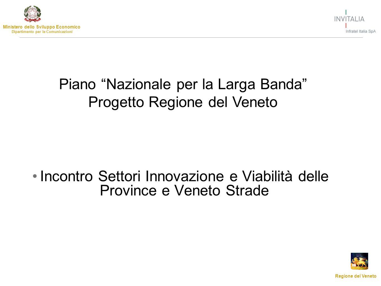 Ministero dello Sviluppo Economico Dipartimento per le Comunicazioni Regione del Veneto Incontro Settori Innovazione e Viabilità delle Province e Vene